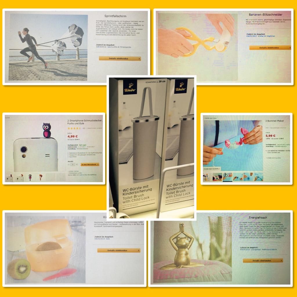 Firstworldproblems Tchibo Sprintfallschirm Kiwi To Go Box Bommel Maker Eule WC-Bürste mit Kindersicherung Bananen Blitz Schneider Enegriefrosch