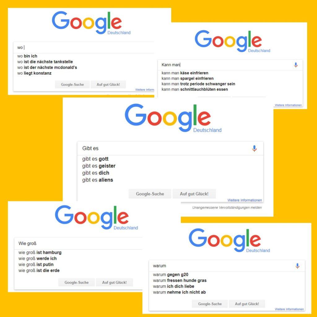 Unsinnige Google Search Anfragen Google Suchanfragen