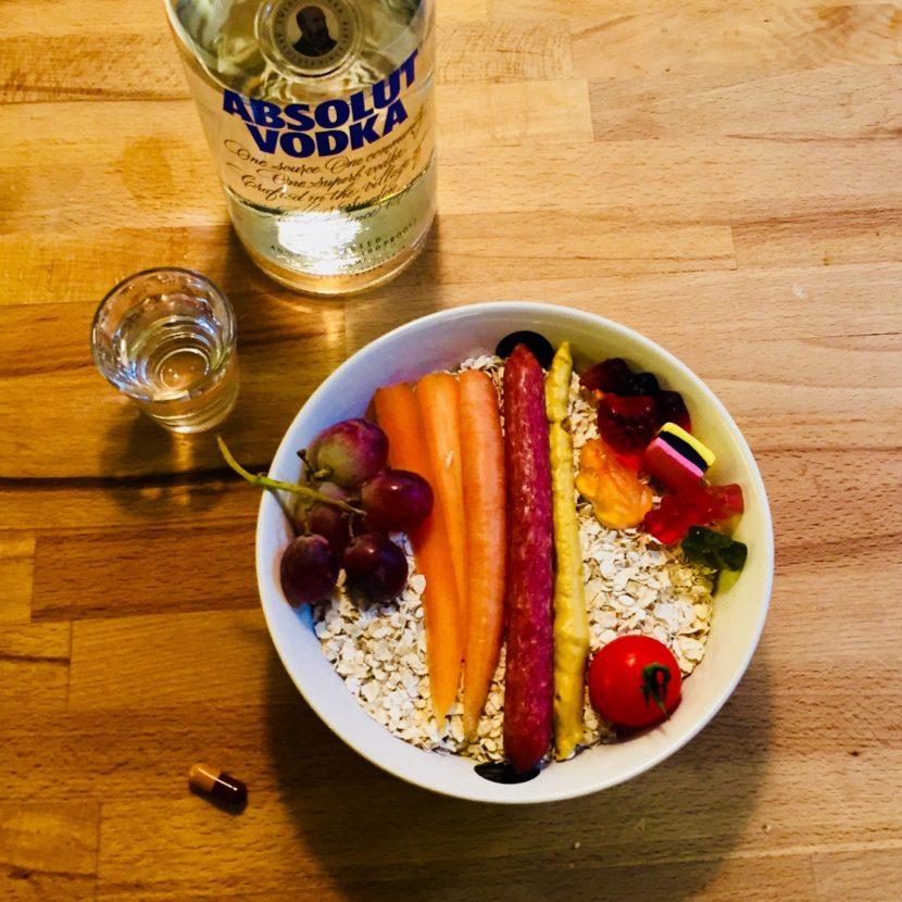 Breakfast Bowl Essen von oben
