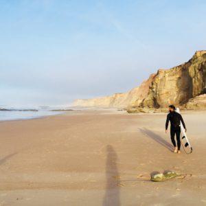 Surfen Surfer Strand Sonne Portugal Peniche