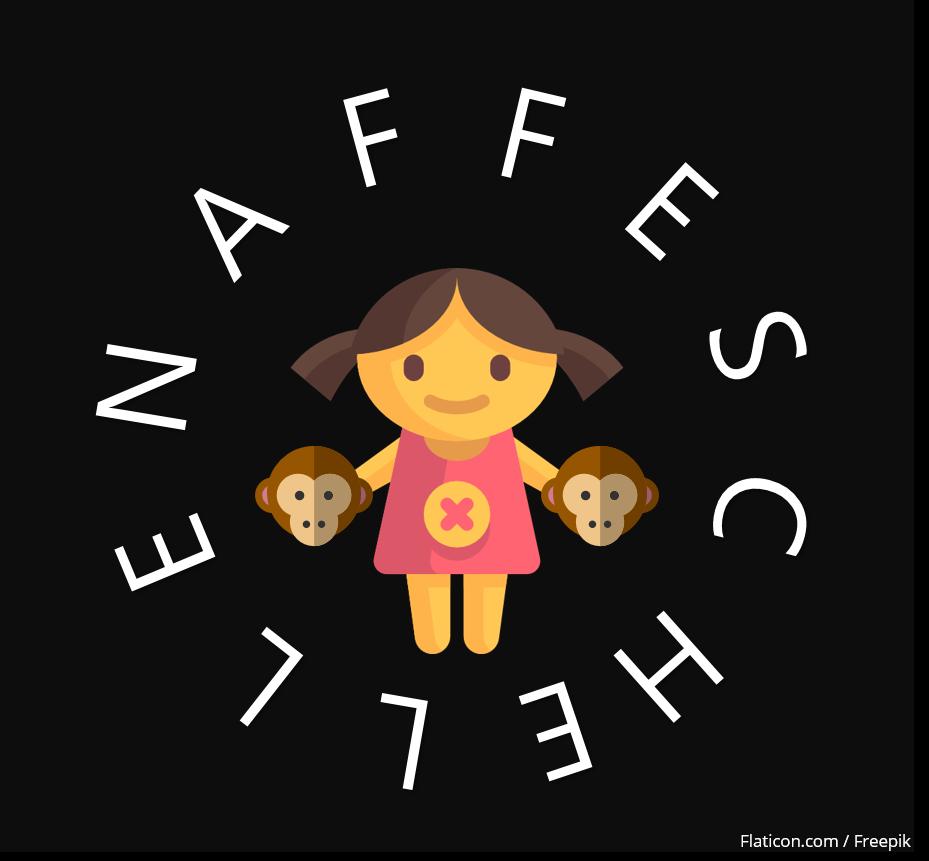 Naffeschelle Logo Kind Affe