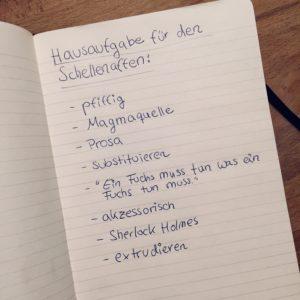 Hausaufgabe Schellenaffe