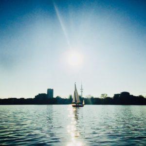 Kanu Kanufahren Alster Hamburg Boot