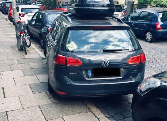 Einparken Schlecht einparken Auto Parkplatz