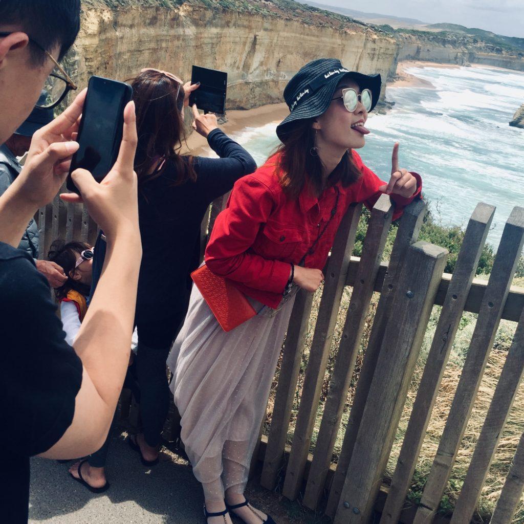 Touristen Selfies Urlauber