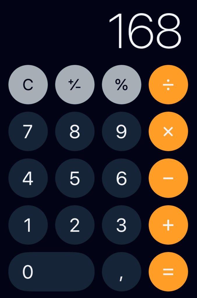 Zeit Taschenrechner 168 Stunden