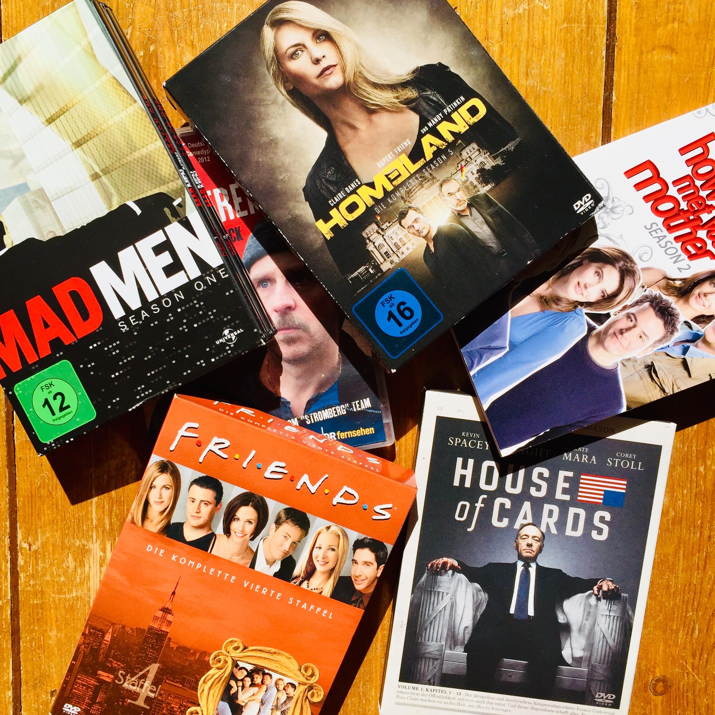 Seriensuchten Mad men House of Cards Friends How I met your mother Homeland Der Tatortreiniger Games of Thrones Serien Bingwatching