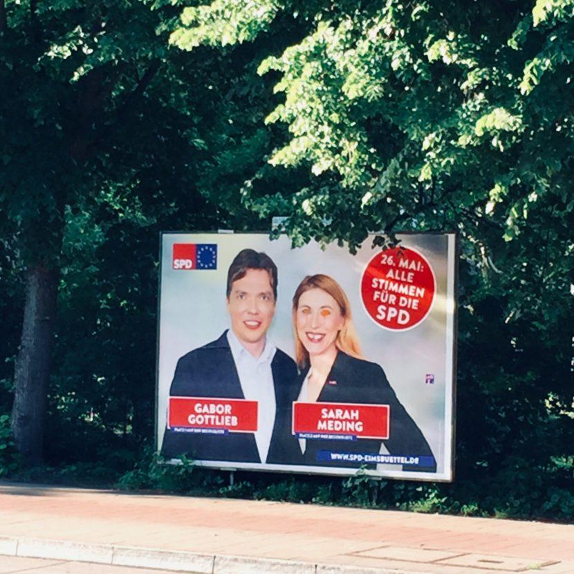 Wahl Wahlplakat SPD Wahlniederlage Europawahl