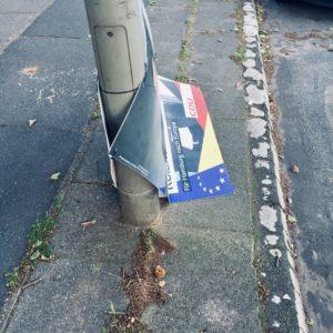 Wahl Wahlplakat CDU Wahlniederlage Europawahl