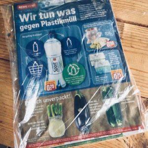 Umwelt Klimaschutz Plastik Greta Handzettel Wurfsendung Wegwerfen Umweltverschmutzung Klimawandel