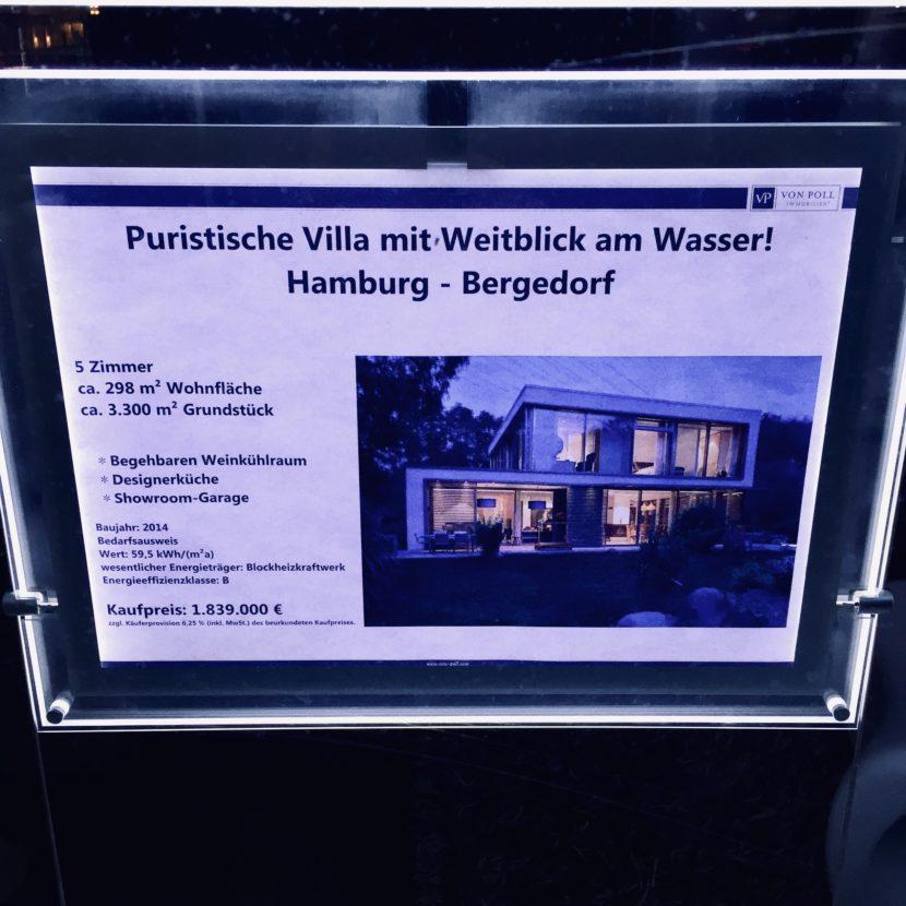 Inserat Wohnung Haus puristische Villa Annouce