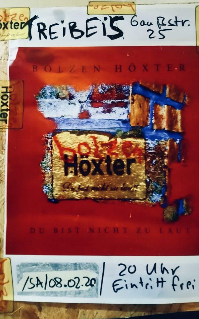Bolzen Höxter du bist nicht zu laut Band Hamburg Schallplatte Wahnsinn
