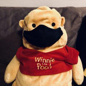 Ausnahmeregel Corona Schellenaffe Maske Maskenpflicht Winnie the Pooh