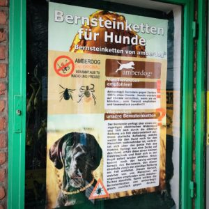 Tierisch Tierliebe Bernsteinketten für Hunde