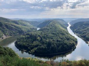 Heimreise Deutschland Deutschlandtour Urlaub daheim Sommer Saar Saarschleife Fluss