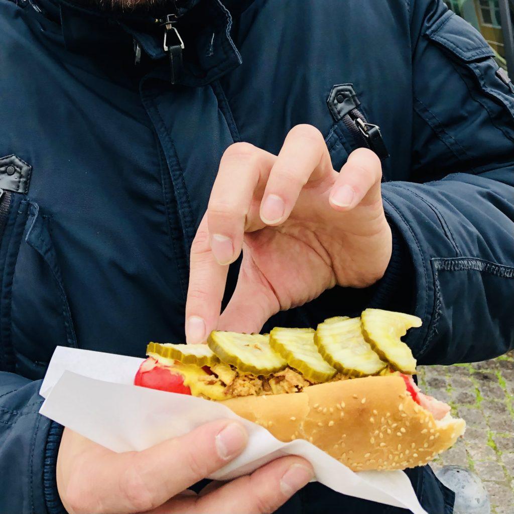 Dänemark Denmark Happiness Strand Herbst Hotdog Wurst