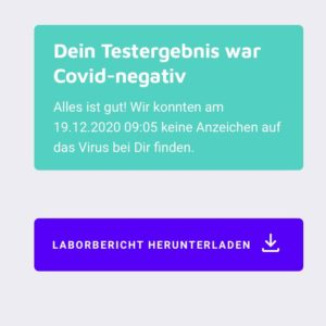 Negativ Testergebnis Covid Optimismus positiv